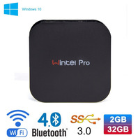 Wintel W8 Pro Mini PC Windows 10 OS TV Box Intel Z8300 4 Cores 2GB 32GB