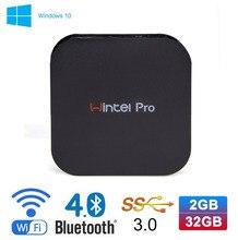 Wintel W8 Pro Mini PC Windows 10 OS TV Box Intel Z8300 4-Cores 2GB/32GB Pocket PC 4K HD HDMI TV Player Support Wifi Bluetooth