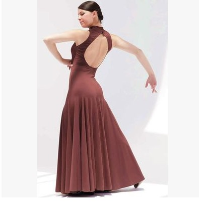 2018 Standard Ballroom Dress Led Costume Modern Dance One-piece Dress Expansion Practice Skirt Ballroom Waltzing Tango Fox Trot