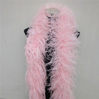 2 Meters 6 layer fluffy Pink ostrich feather boa skirt Costumes/Trim for Party/Costume/Shawl/Craft ostrich feather decorations