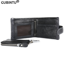 GUBINTU Genuine Leather 2016 Classical European and American Style Men Wallets Fashion Purse Card Holder Vintage Man Wallet