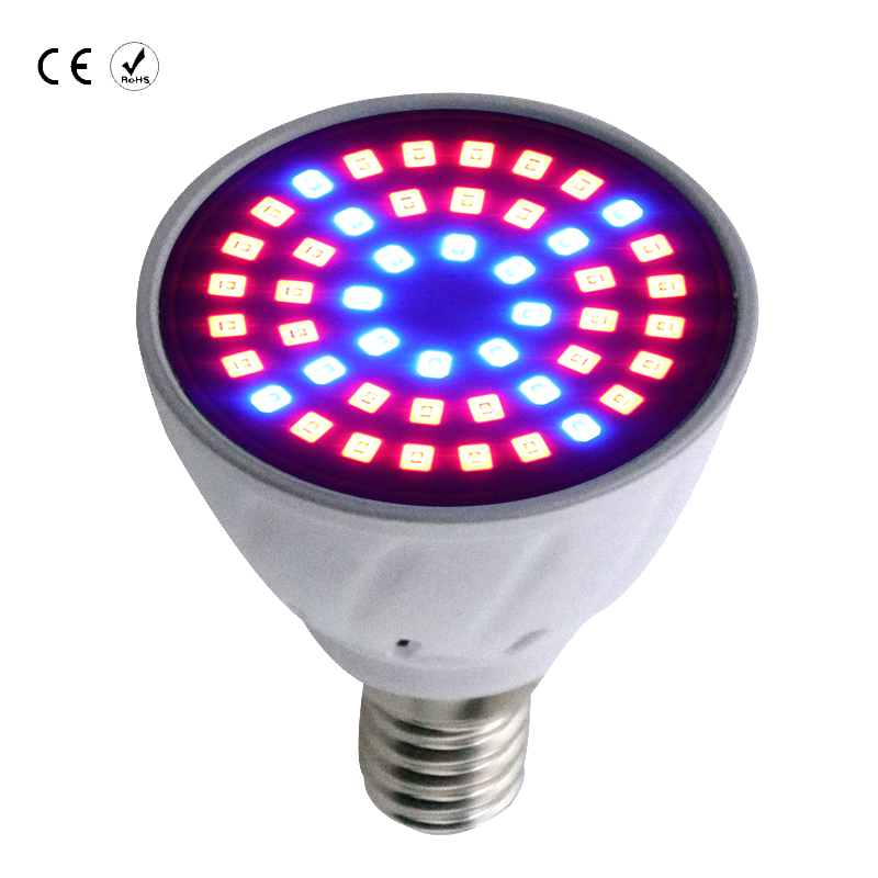 10PCS GU10/B22/MR16 Full Spectrum LED Grow Light Growth for Indoor greenhouse Desktop Plants Flower with 48 60 80leds E27/E14