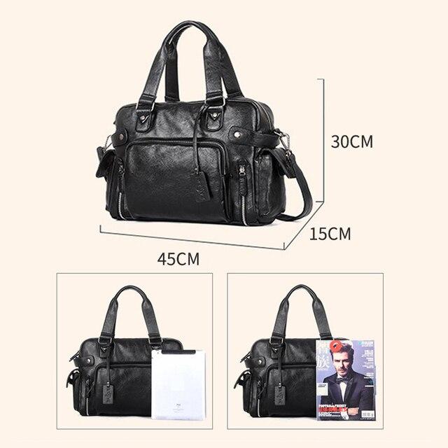 Brand Designer Travel Bag Leather Handbags Men's Casual Tote For Men Large-Capacity Portable Shoulder Bags Big Package XA214ZC 6