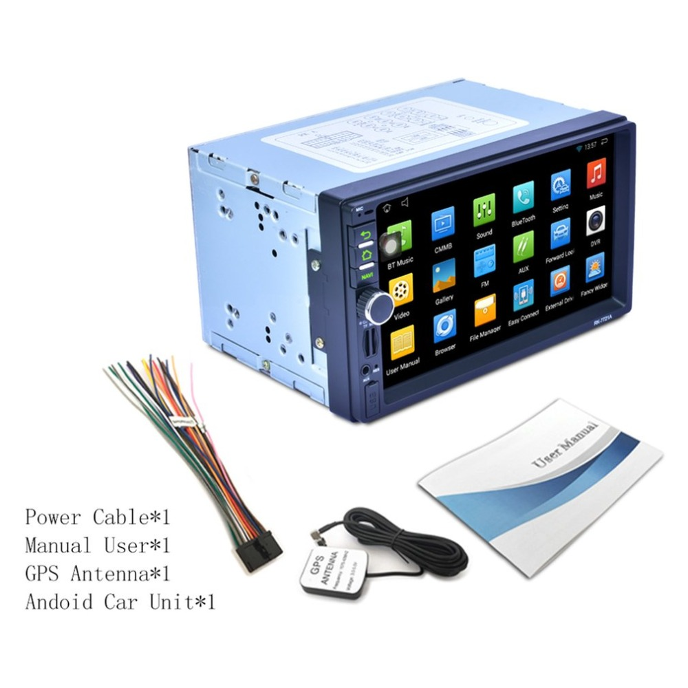RK 7721A Car DVD MP3 Player Professional 7 Inch HD 1024 600 Capacitive Screen Wifi Colorful