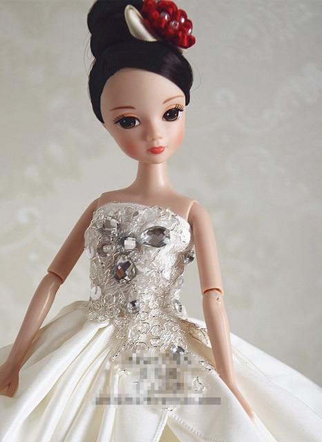 Автономный дизайн ручной работы Подарки Для Девочек Кукла Аксессуары Вечерние Костюм Свадебное Платье Одежда Для Куклы Барби BBI00502