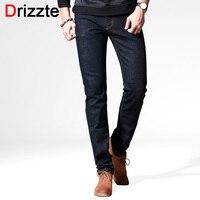 Drizzte Brand Winter Autumn New Style Fashion Black Slim Fit Long Jeans For Men Casual Denim