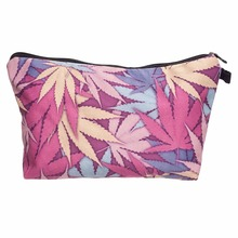 Who Cares High Quality Weed Plam Cacti 3D Print Cosmetic Bag Women Neceser Maquillaje Bag Travel Toiletry Organizer Makeup Bag