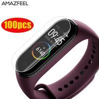 100 pcs/Pack Für MiBand 4 Screen Protector Für Mi Band 4 Screen Protector Film Smart Armband Zubehör Nicht gehärtetem Glas-in Cleveres Zubehör aus Verbraucherelektronik bei