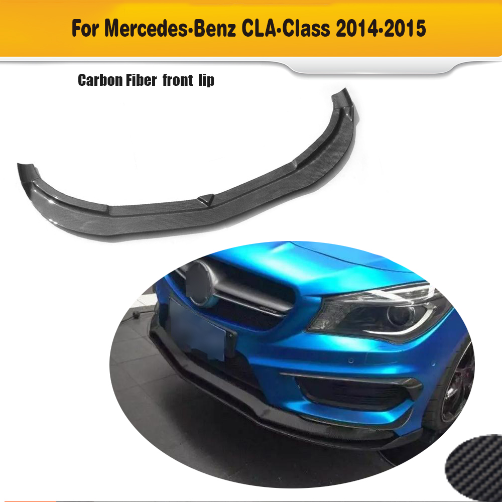 CLA Class carbon fiber front lip spoiler fit for benz C117 W117 CLA45 CLA 45 CLA45 AMG 2014-2015