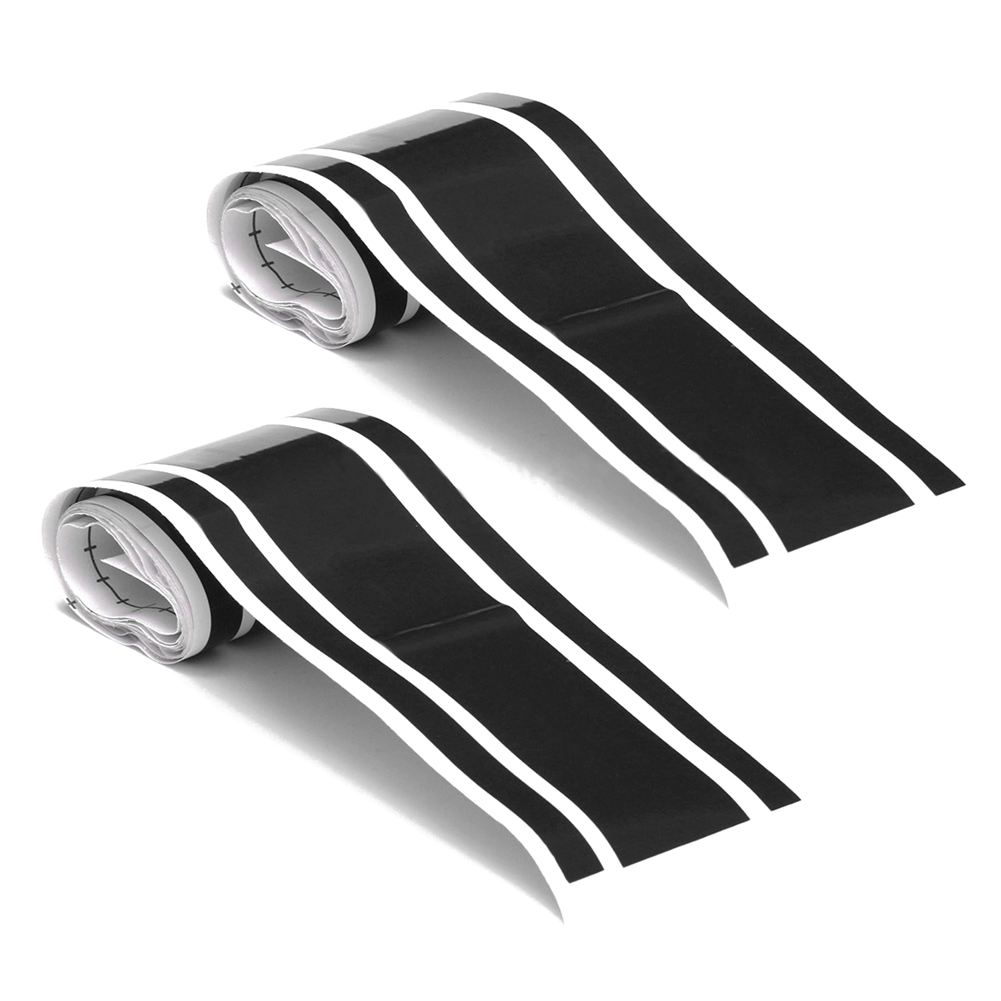 2 pcs 72 pouce x 3 pouce BRICOLAGE Noir Carrosserie Vinyle Racing Bande Filet Decal Autocollants Nouveau
