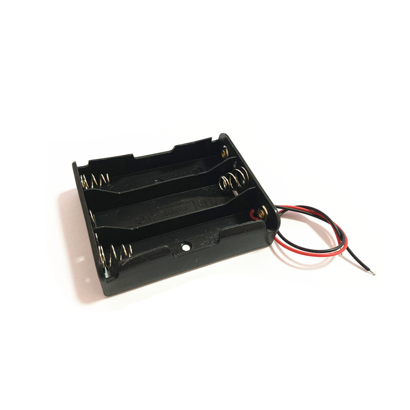 1PCS Black Plastic 3x18650 Battery Storage Box Case  3 Slot Way DIY Batteries Clip Holder Container With Wire Lead Pin