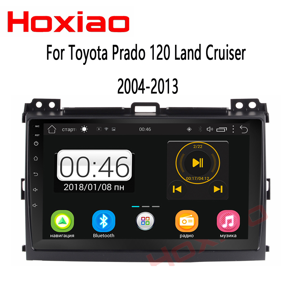 Android Car Radio for Toyota Prado 120 Land Cruiser 9 inch Quad Core wifi Bluetooth video audio Multimedia 2 din car dvd player