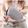 Shell Weaving Wallet Tassel Zipper coin purse Hand-woven Belt Card Hand Holding Women purses