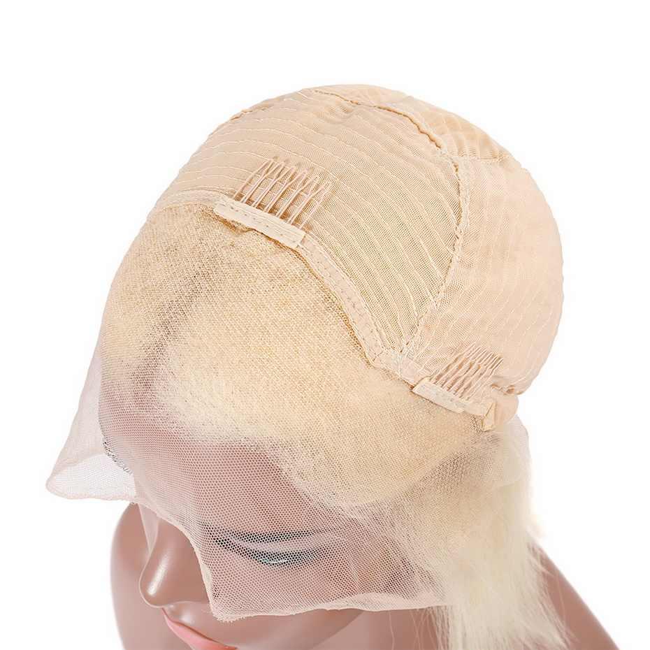 Stema 1b 613 короткий Боб Синтетические волосы на кружеве парик блонд #4, синий, розовый, прямое, Омбре Реми парики из натуральных волос на кружевной многоцветная на выбор