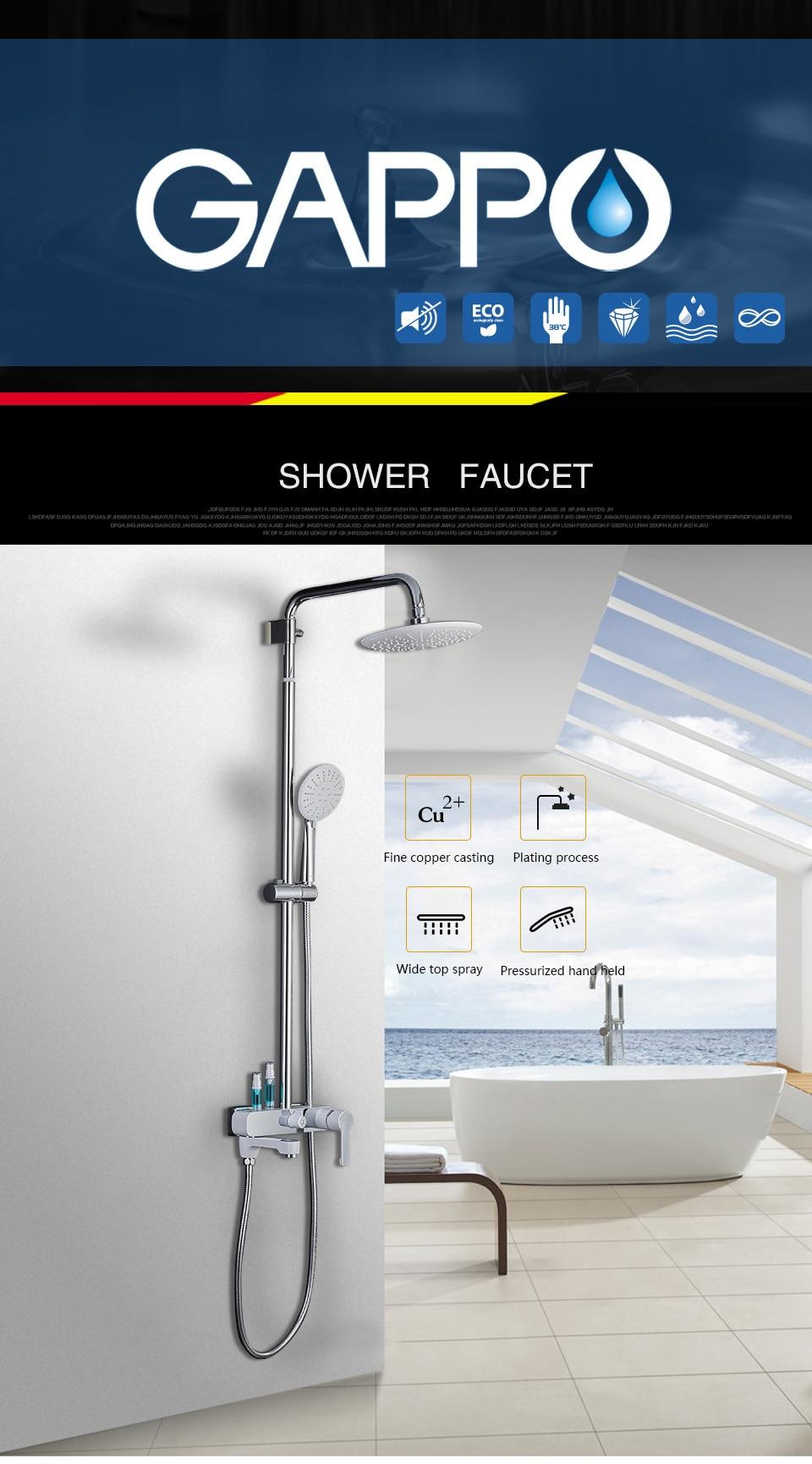 HTB1WLfpXInrK1RjSspkq6yuvXXaG GAPPO shower faucets bathroom White chrome shower set bath bath mixer bathroom shower system G2402-8