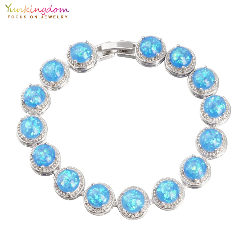 Yunkingdom new fashion luxury round stone bracelets for women pulseras bracelet femme pulseras mujer LPK2171 браслет на ногу pulseras tobillo bisuteria mujer tobilleras diy anklet