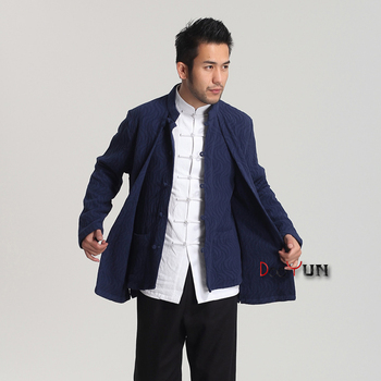 Brand New Arrival ChineseTraditional Men's Fake two pieces Cotton Linen Jackets Coats  M L XL XXL  MTJ2016010703
