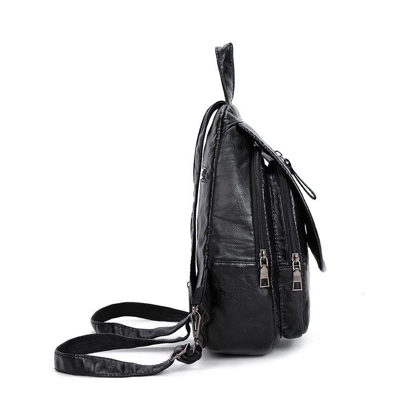 Leisure PU Leather Backpack Female School Shoulder Bags for Teenage Girl Travel Back Pack Mochila Sac A Dos Femme Drop Shipping in Backpacks from Luggage Bags