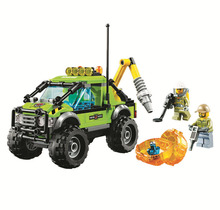 BELA City Explorers Volcano Exploration Truck Set Building Blocks Sets Bricks Kids Model Kids Toys Marvel Compatible Legoings