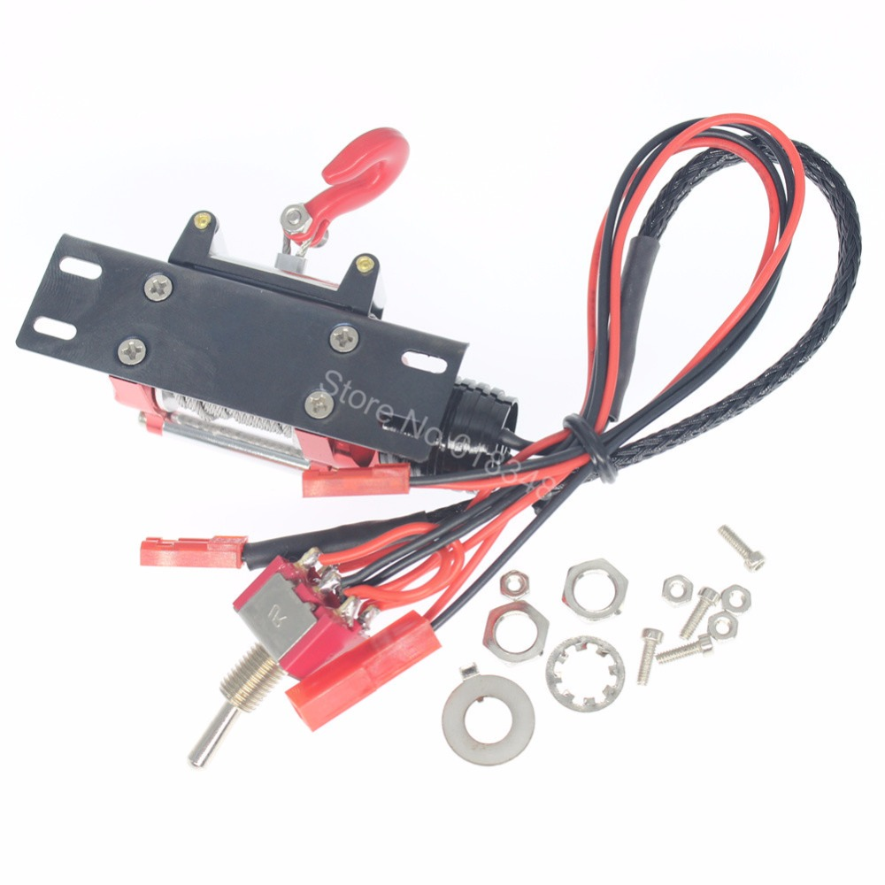 10pcs/Lot Metal 1:10 RC Rock Crawler Automatic Simulated Winch for Axial SCX10 RC4WD D90 Climbing Car Parts