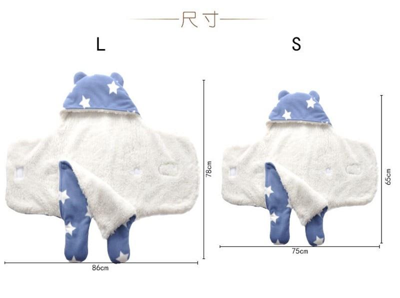 MOTOHOOD Baby Blanket Infant Thicken Flannel Swaddle Stroller Cartoon Winter Blanket Newborn Baby Bedding Blankets Sleeping Bag  (13)