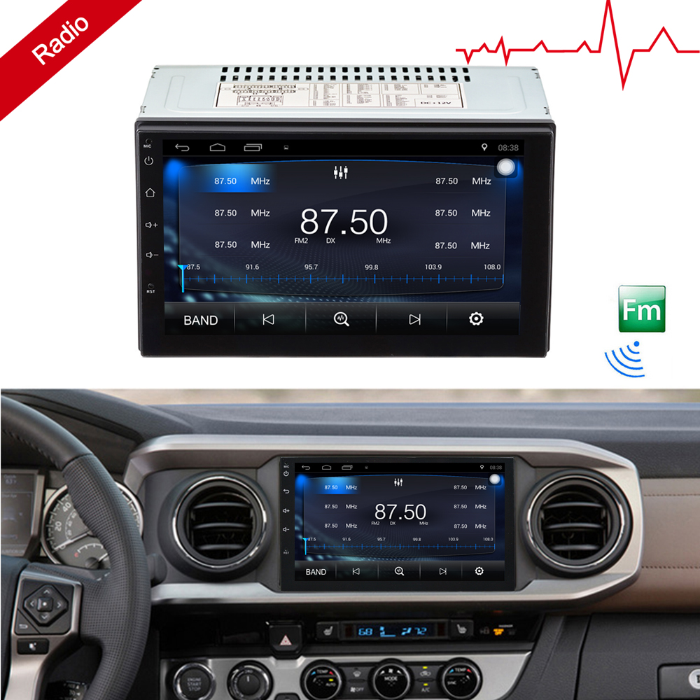 "Discount 2 Din Android 7.1 Car Radio Stereo 7""1024*600 Universal Car Player GPS Navigation Wifi Bluetooth USB Radio Audio Player(No DVD) 10"