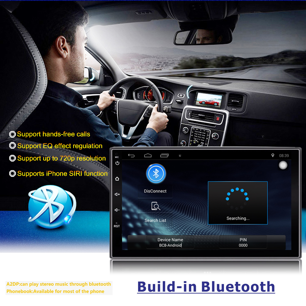 "Cheap 2 Din Android 7.1 Car Radio Stereo 7""1024*600 Universal Car Player GPS Navigation Wifi Bluetooth USB Radio Audio Player(No DVD) 5"