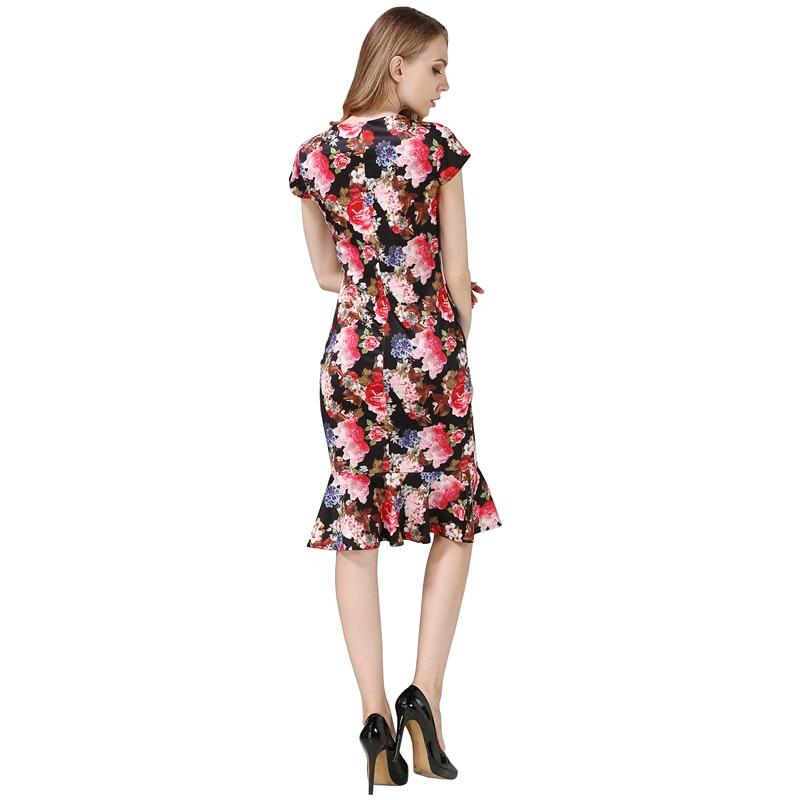 Multicolor Dress Office- ի Տիկնայք Աշխատանքային - Կանացի հագուստ - Լուսանկար 3
