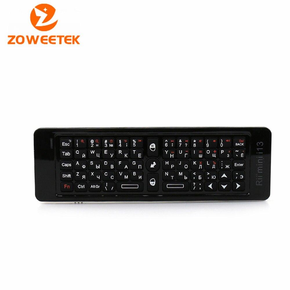 Zoweetek Russian Rii Mini i13 <font><b>Keyboard</b></font> 2.4GHz MIC Speaker <font><b>Wireless</b></font> <font><b>Gaming</b></font> <font><b>Keyboards</b></font> With <font><b>Air</b></font> <font><b>Fly</b></font> <font><b>Mouse</b></font> For Smart Android TV Box