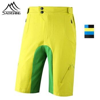b78aadb39f SAENSHING pantalones cortos de ciclismo bicicleta cuesta abajo Mtb  pantalones cortos cintura ajustable cortos de bicicleta de montaña corta  Vtt de las ...
