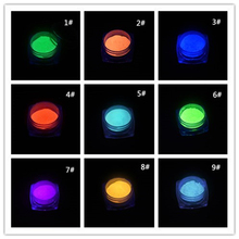 10 Colors Luminous Nail Glitter Powder Glow in the Dark Glow Powder Luminous Pigment Fluorescent Powder for Nail Art Decoration