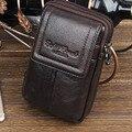 Novos Homens Genuíno Couro De Couro bolsa de Viagem Do Vintage Caixa Do Telefone Móvel Celular Capa Bolsa de Cinto Bolsa Bloco de Fanny Saco Da Cintura