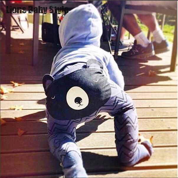 3D Мультфильм Дизайн Медведь Уха Кролика Хлопка Малыш Младенческая Baby Bosy Девушки Одежды PP Шаровары 0-2Y Малышей Bebe Брюки леггинсы