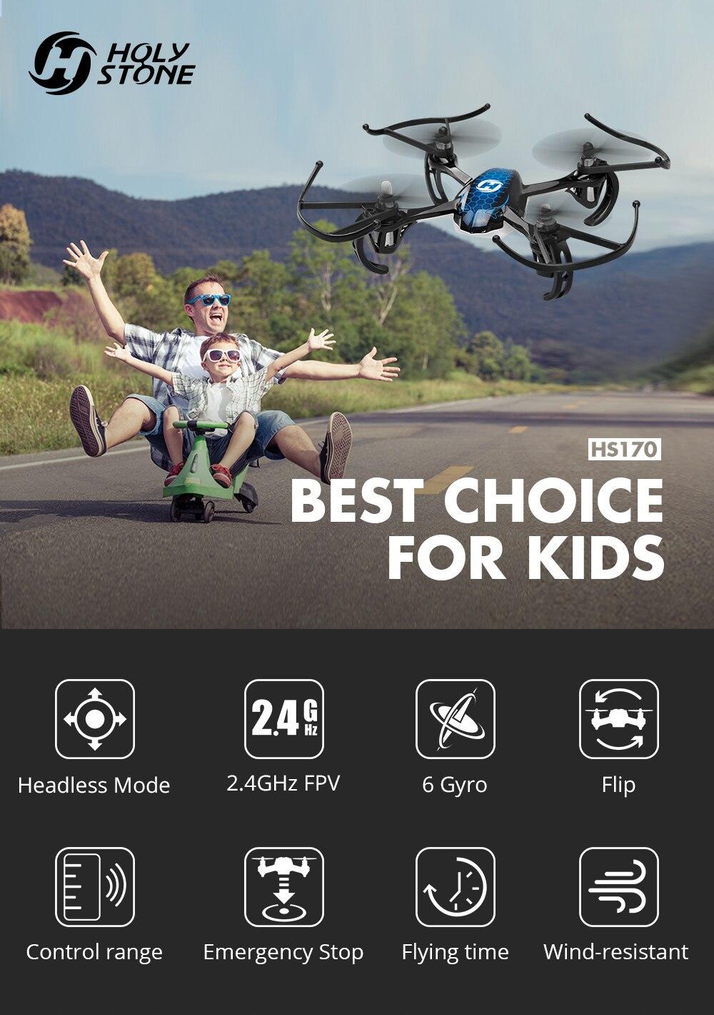 Holy Stone HS170 Drone Predator Mini RC Quadcopter 2 4Ghz 6-Axis Gyro 4  Channel One Key Return Headless Toy RC Airplane Beginner