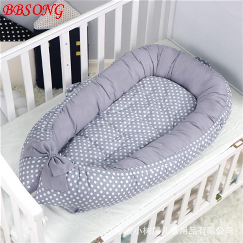 BBSONG nouveau bébé nid lit léger Double face coton berceau berceau Portable voyage sommeil lit pour nouveau-né enfants nourrissons