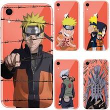 Cartoon Naruto Uzumaki Case For iPhone XS Max XR Manto do Quarto Hokage Soft Silicon Cover For iPhone X XS XR 6S 7 8 Plus Coque цена
