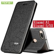 For Xiaomi Mi 5X case cover silicon TPU back Original mofi flip leather Mi A1 case Xiaomi Mi5X case Mi 5 5X luxury Mi A1 cover цена и фото