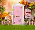 1:12 Dollhouse miniatura Puerta De Hadas Rosa Claro Fuera abierta Partes Muñecas Regalo 3 Estilo Moda accesorios de Hardware