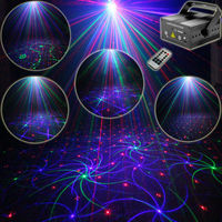 Eshiny 300Mw RGB 2 Lens Laser 24 Patterns Projector Full Color Red Green Blue Club Home