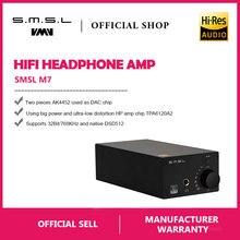 SMSL M7 2xAK4452 32Bit/768 кГц DSD512 Hi-Fi аудио USB ЦАП с усилителем для наушников USB коаксиальный Оптический Вход RCA 6,35 Jack Выход