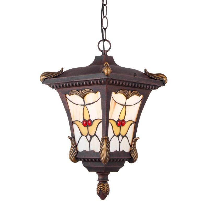 official photos 5e505 6edf7 US $111.58 |Outdoor IP44 Porch Pendant Lamp Garden Gate Hallway Pendant  Lights Balcony Corridor Chain Hanging Lighting Fixtures-in Outdoor Wall  Lamps ...