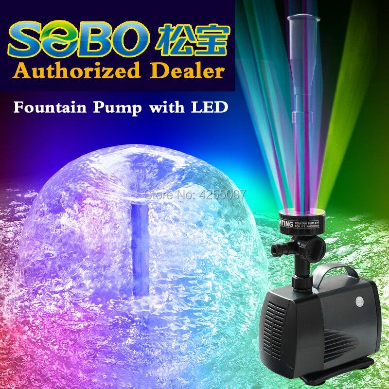 Pompe à eau d'aquarium de bassin de poissons de SOBO avec la LED pompe Submersible de fontaine pour la décoration de jardin concessionnaire autorisé
