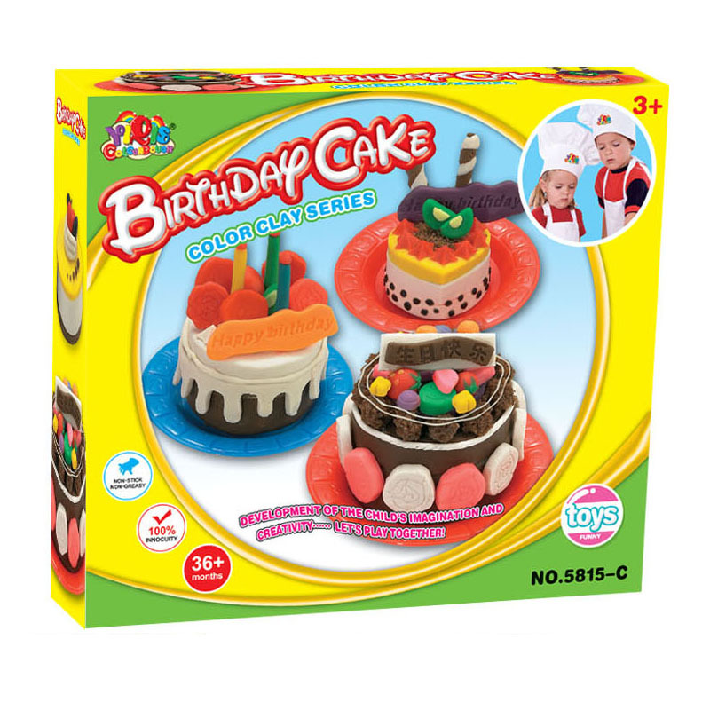 Safety Plasticine Playdough Birthday Cake Sets With Moulds Color Dough Children Pretend Play Learning Education Toy Plasticine Set Playdough Setdough Set Aliexpress