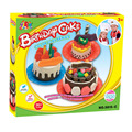 Safety Plasticine Playdough Birthday Cake Sets with Moulds Color Dough Children Pretend Play Learning & Education Toy
