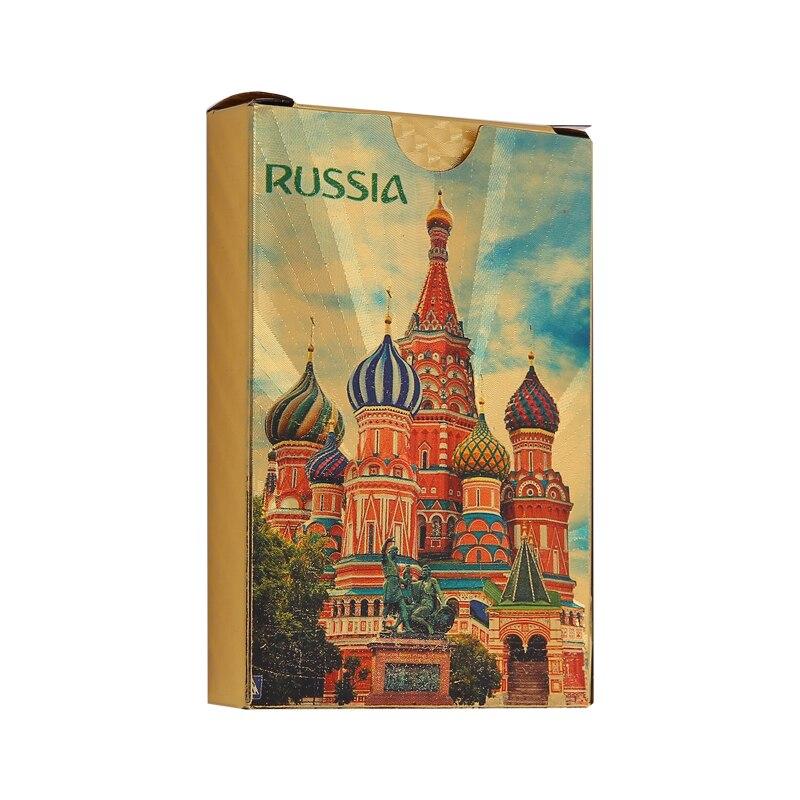 36 Rusia jugando a las cartas impermeable oro tarjetas Durable regalo creativo de cartas de plástico promoción PVC tarjetas