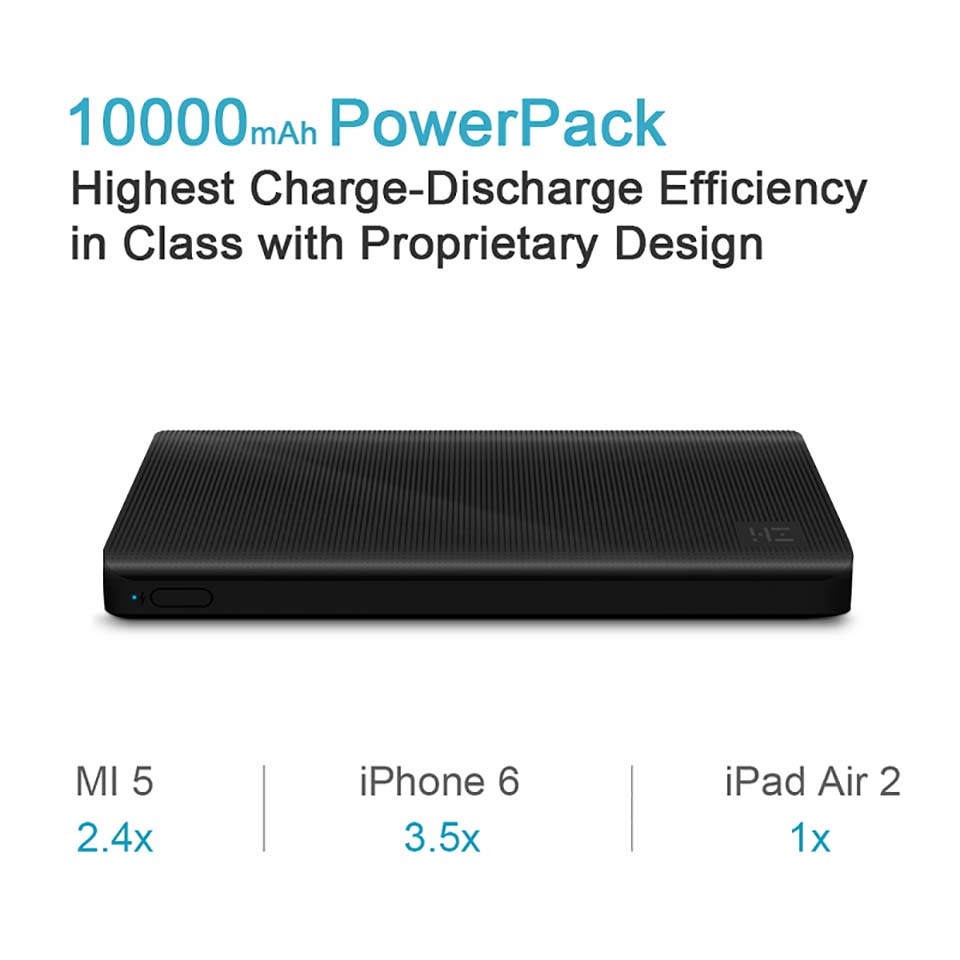 Xiaomi ZMI Power Bank 10000mAh Powerbank External Battery portable charging Quick Charge 2 0 Two Way Fast Charge Pack for iPhone in Power Bank from Cellphones Telecommunications