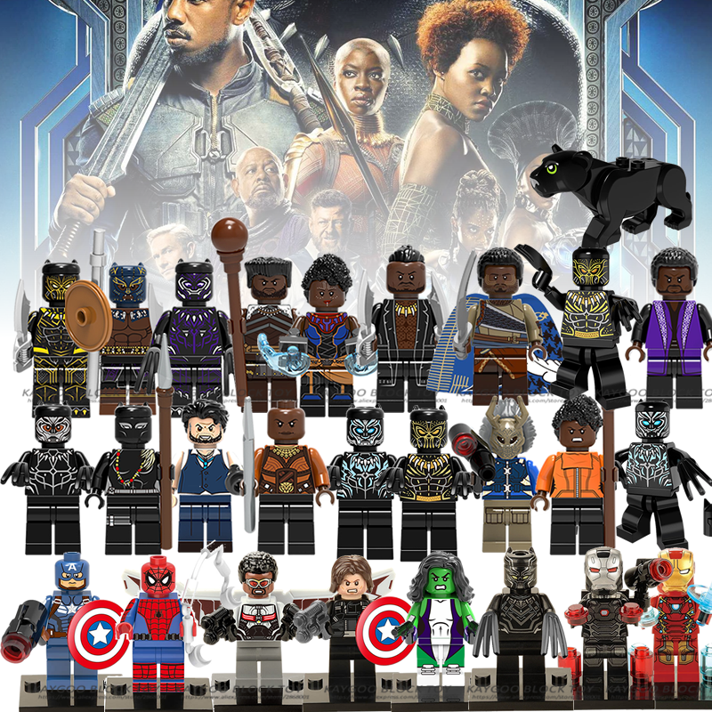 Legoings Marvel Super Heroes Black Panther Erik Killmonger Shuri Ulysses Klaw Okoye Dolls Building Blocks Kids Toy X0184