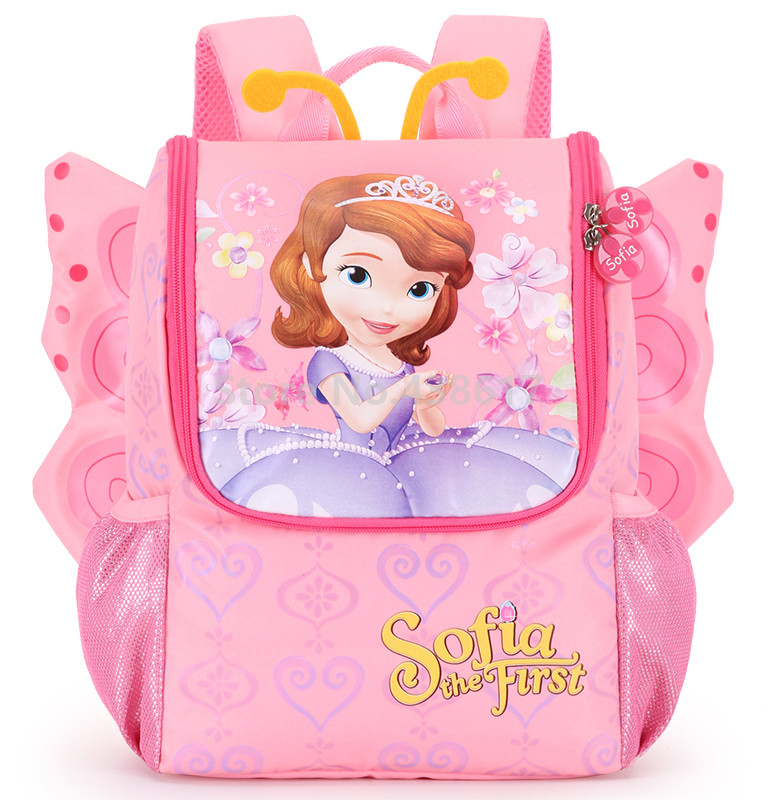 Cute Butterfly Princess Sofia Backpack School Bags for Girls Kids Kindergarten Preschool Toddler Children Bag
