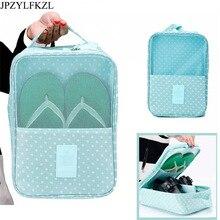 JPZYLFKZL Fashion Waterproof Nylon Hook Travel Pouch Shoe Bag Zipper Toiletry Makeup Sports Gym Storage luggage Organizer