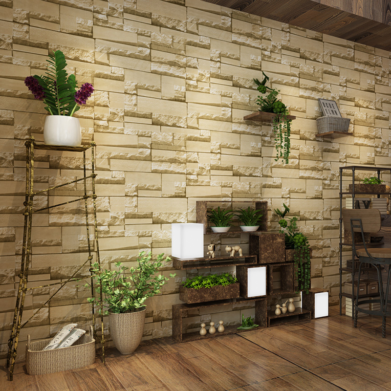 3D Stone Brick Wall Paper Rolls Living Room Bedroom Background Wall Home Decor Art Non-woven Wallpaper Brick Papel De Parede купить